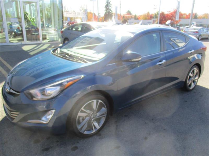 Hyundai Elantra 2014 Limited Tech NAVIGATION, CUIR, TOIT, MAGS, BLUETOO #A-2627