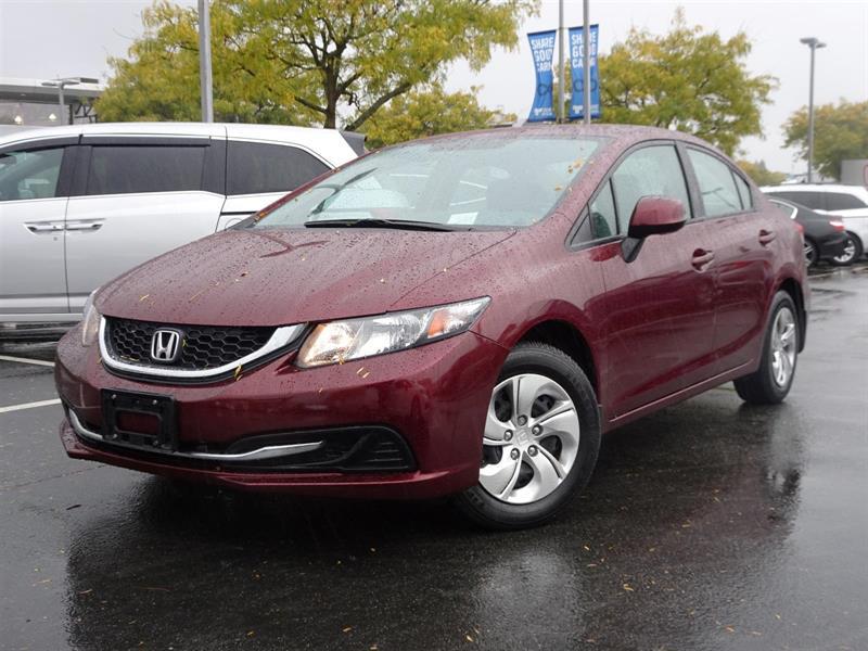 2013 Honda Civic LX! Honda Certified Extended Warranty to 160,000 K #LH7742