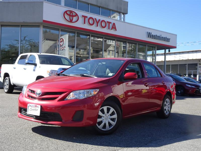 2012 Toyota Corolla Convenience Package #CR18038A