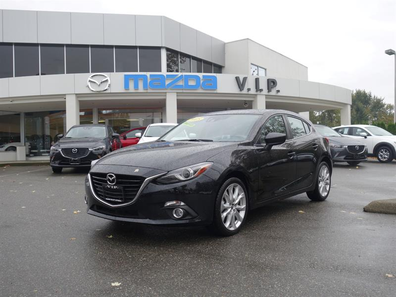 2015 Mazda MAZDA3 GT, TECH PACKAGE, AUTO #D5654