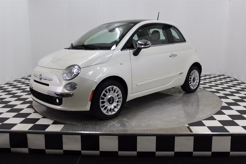 Fiat 500 2012 Lounge (cuir rouge) #a6461-1
