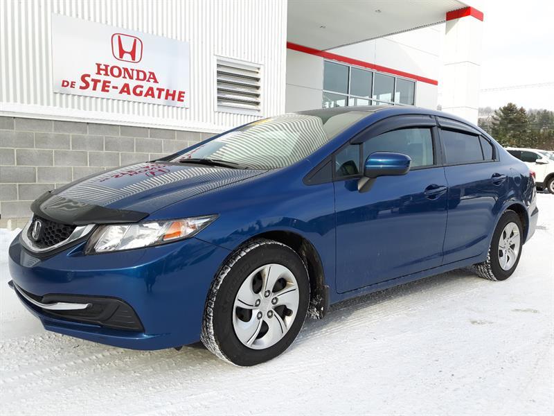 Honda Civic 2015 Auto LX, Vitres tintées, Déflecteur, Camera recul. #h314xa