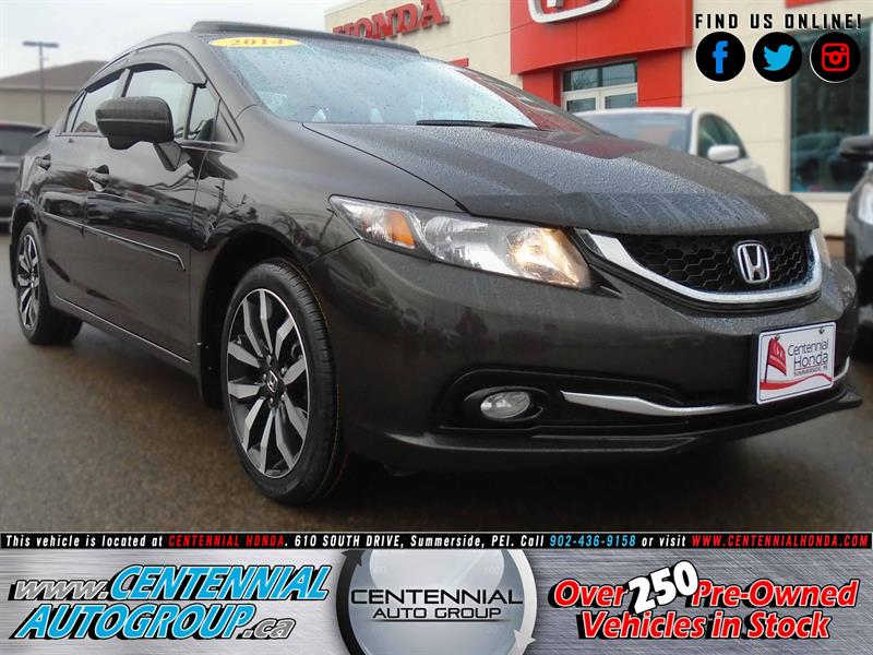 2014 Honda Civic Sedan Touring | 1.8L | Navigation | Honda Plus #8761A
