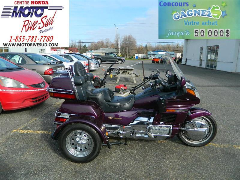 honda trike gl 1500 goldwing trike 4 roues 1996 occasion vendre pintendre moto rive sud. Black Bedroom Furniture Sets. Home Design Ideas