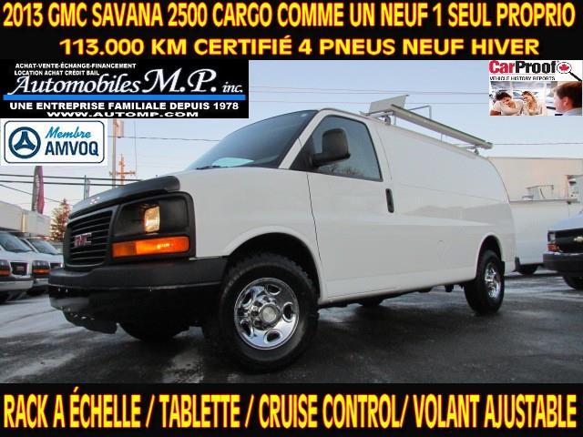 GMC Savana 2500 2013 CARGO RACK A ÉCHELLE TABLETTE 113.000 KM  #N-1720