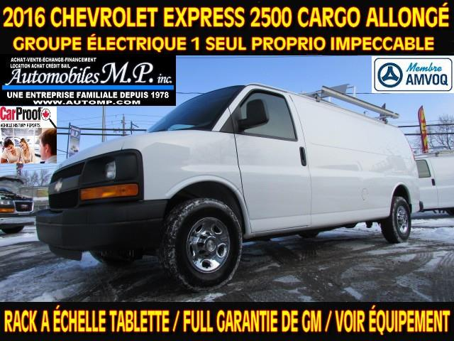 Chevrolet Express 2500 2016 CARGO ALLONGÉ RACK A ÉCHELLE TABLETTE GROUPE ÉLECT #N-1702