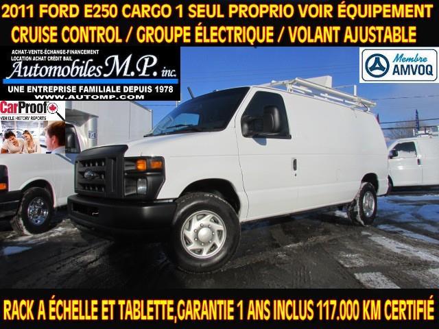 Ford E-250 2011 CARGO GROUPE ÉLECTRIQUE RACK TABLETTE GARANTIE  #N-1708
