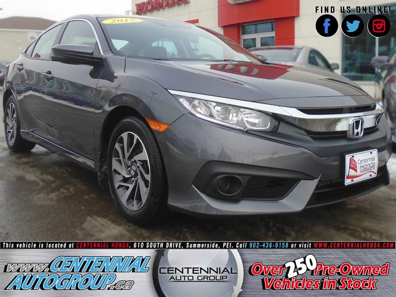2017 Honda Civic Sedan EX | 2.0L | Bluetooth | Cruise Control | A/C #9002A