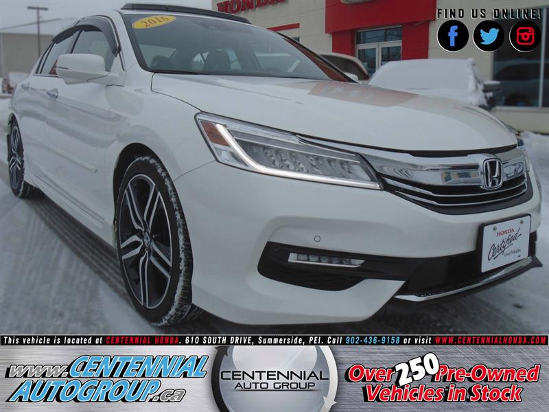 2016 Honda Accord Sedan Touring | 3.5L | V6 | Navigation | Honda Plus #8905A