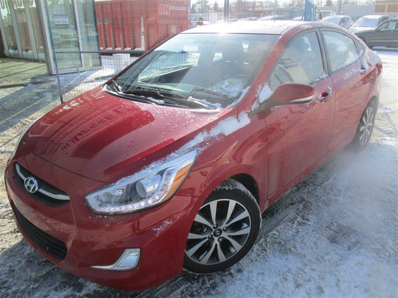 Hyundai Accent 2016 GLS, TOIT OUVRANT, MAGS, BLUETOOTH, BANCS CHAUF #A-2646