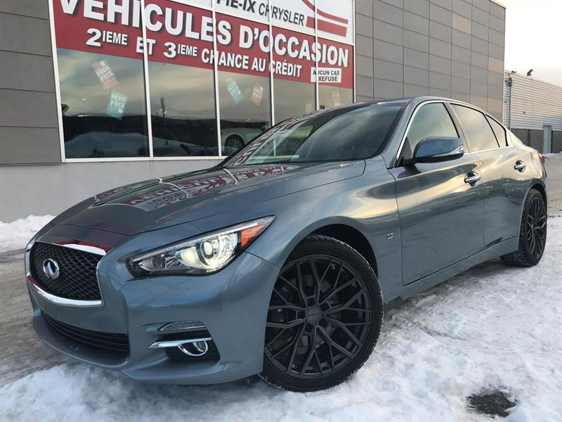 Infiniti Q50 2015 4dr Sdn AWD+LIMITED+CUIR+NAV+TOIT+MAGS+WOW! #UD4330A