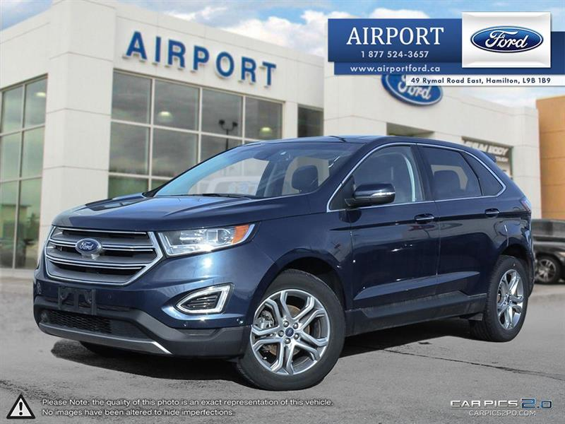 2017 Ford EDGE Titanium FWD with only 37,205 kms #A80230