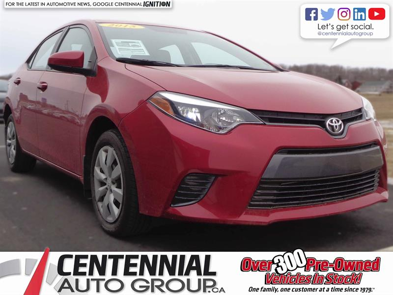 2015 Toyota Corolla LE | 1.8L | i4-Cyl | Bluetooth | Cruise Control #SP18-004