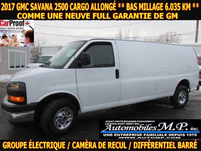 GMC Savana 2500 2017 CARGO ALLONGÉ 6.035 KM GROUPE ÉLECTRIQUE #N-1746
