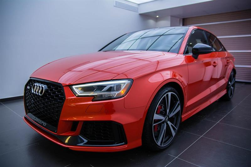 Audi RS 3, exaust sport, black optick 2018
