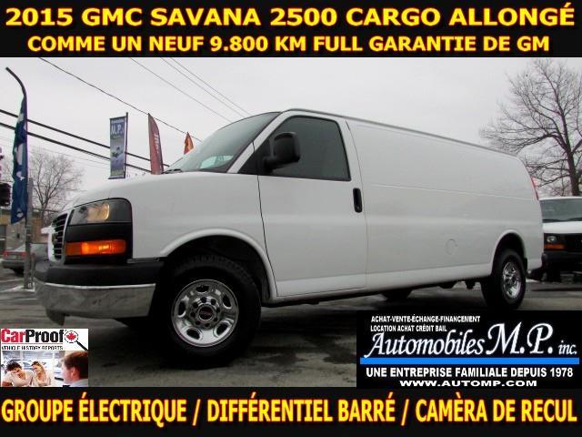 GMC Savana 2500 2015 cargo allongé 9800 km groupe électrique #n-1751