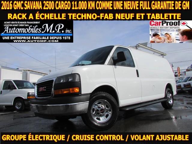 GMC Savana 2500 2016 11.000 KM RACK A ÉCHELLE TABLETTE GROUPE ÉLECTRIQU #N-1757