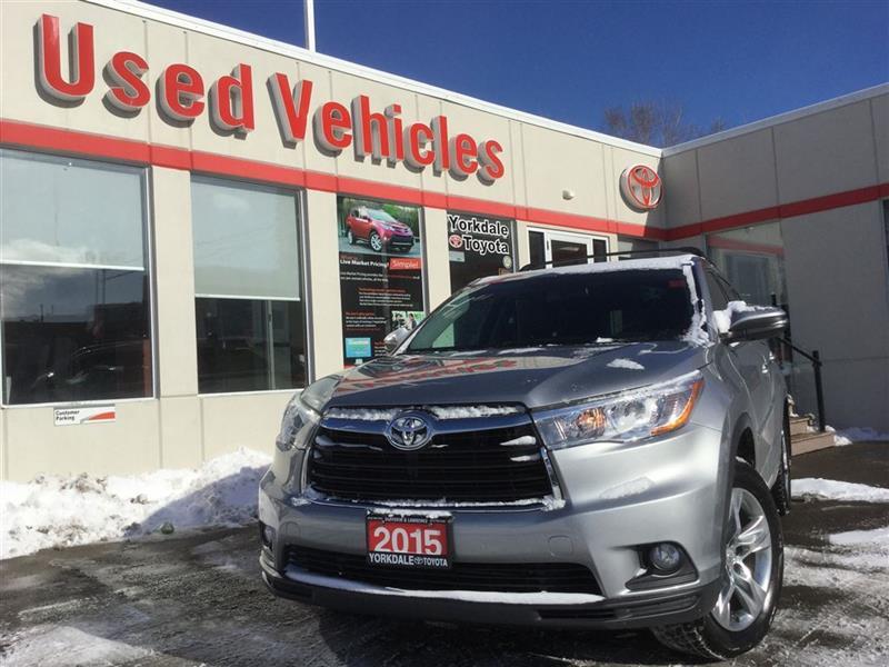 2015 Toyota Highlander LIMITED AWD- NAV, PANOROOF, BSM, PARKING SENSORS #P6964