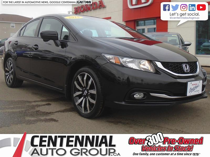 2015 Honda Civic Sedan Touring | Navigation | Bluetooth | Heated Seats #8986A