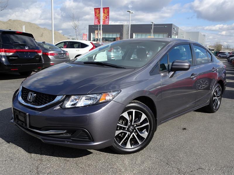 2014 Honda Civic EX CVT! Honda Certified Extended Warranty to 160,0 #LH7955