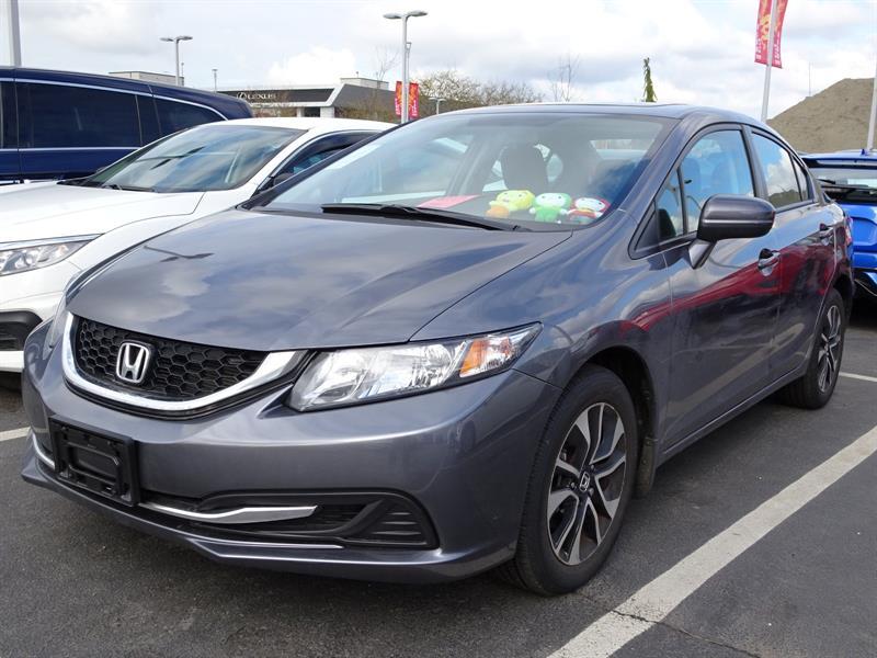 2015 Honda Civic Sedan EX CVT! Honda Certified Extended Warranty to #B12251