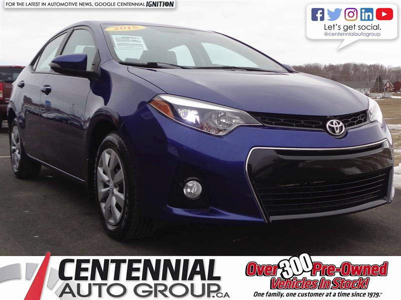 2015 Toyota Corolla S | 1.8L | Bluetooth | Cruise Control #S18-032A