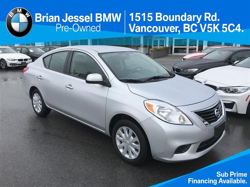 2012 Nissan Versa Sedan 1.6 SV CVT only $99 bi weekly #BP6017