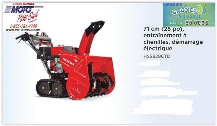 Honda HSS928CTD 2019