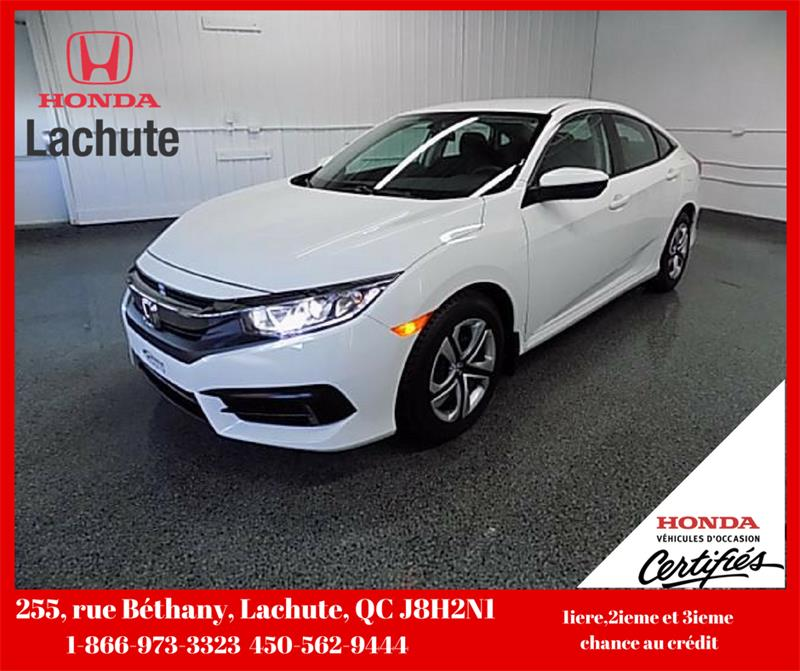 Honda Civic 2018 LX/ AUTO/ AIR GARANTIE 2023 #18-223