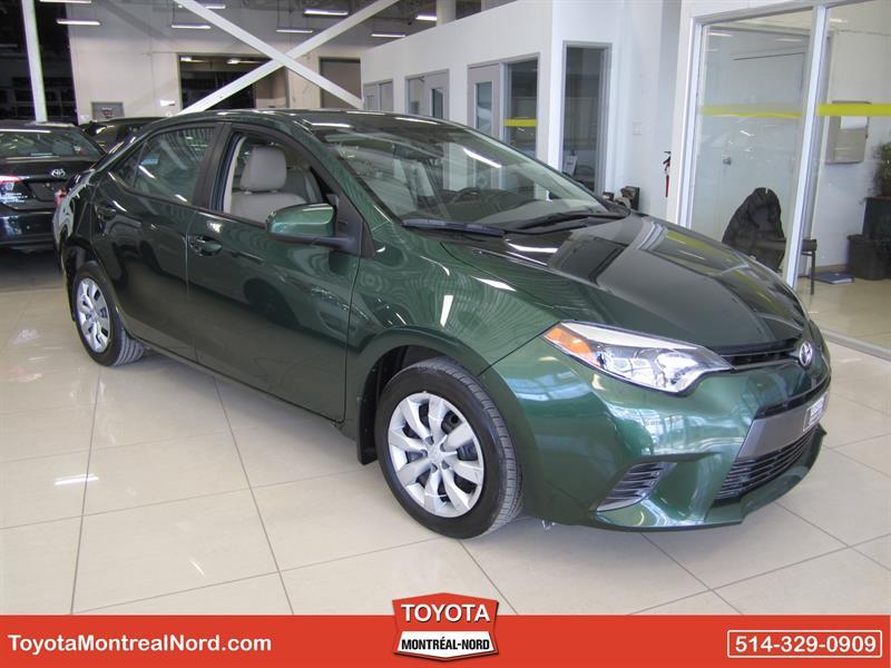 Toyota Corolla 2015 LE CVT Aut/Ac/Vitres,Portes,Miroirs Electriques  #3080 AT
