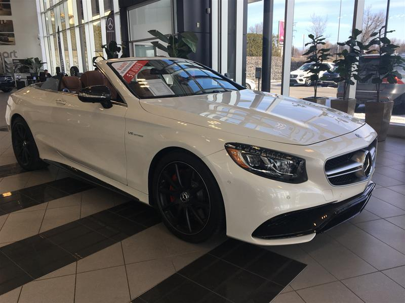 mercedes benz s63 amg 4matic cabriolet rabais wow de 50 000 2017 d monstrateur vendre. Black Bedroom Furniture Sets. Home Design Ideas