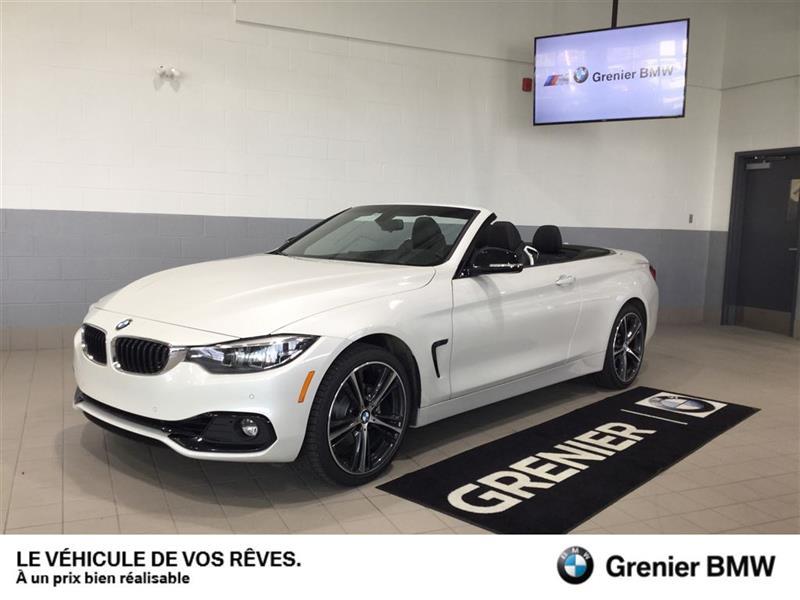 BMW 430i xDrive 2018 7934 km un aubaine!,Convertible,Groupe premium #180104A