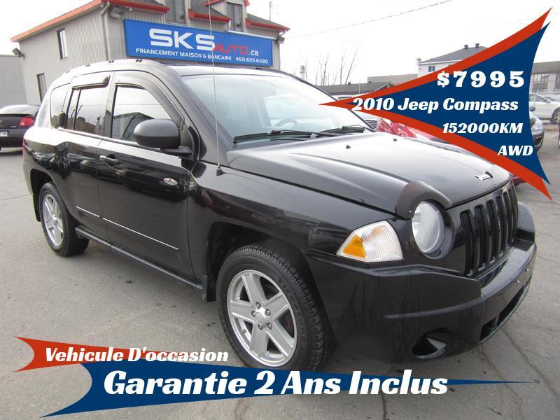 Jeep Compass 2010 4WD (GARANTIE 2 ANS INCLUS) FINANCEMENT MAISON #SKS-4078-