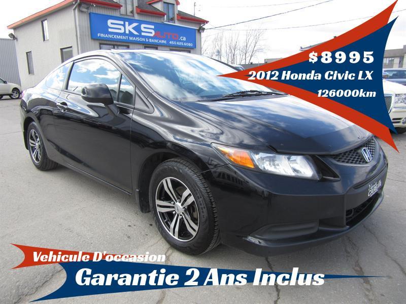 Honda Civic Cpe 2012 LX (GARANTIE 2 ANS INCLUS) *FINANCEMENT MAISON* #SKS-4086