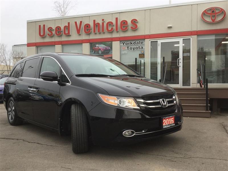 2015 Honda Odyssey Touring V6- Nav  S.roof  LDW  Cruise  B.cam  Leath #P7162
