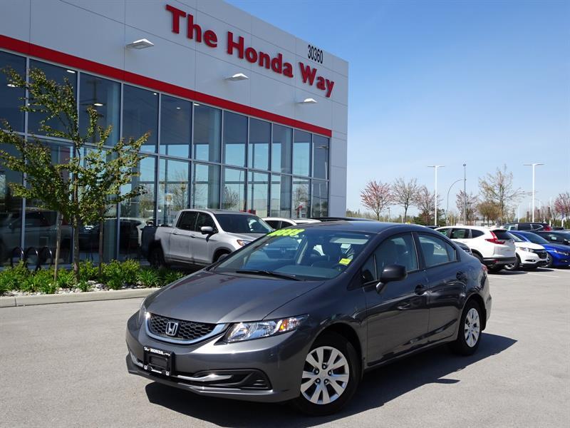 2013 Honda Civic DX Sedan 5-Speed MT/ Warranty until 2020 or 160,00 #18-486A