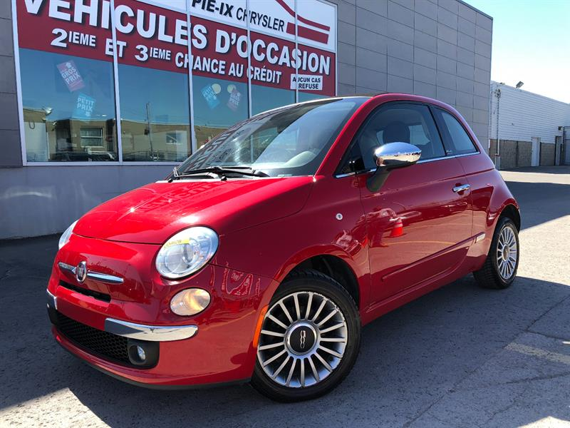Fiat 500 2012 2dr Conv+LOUNGE+CUIR+MAGS+A/C+GR.ELEC+WOW! #UD4628
