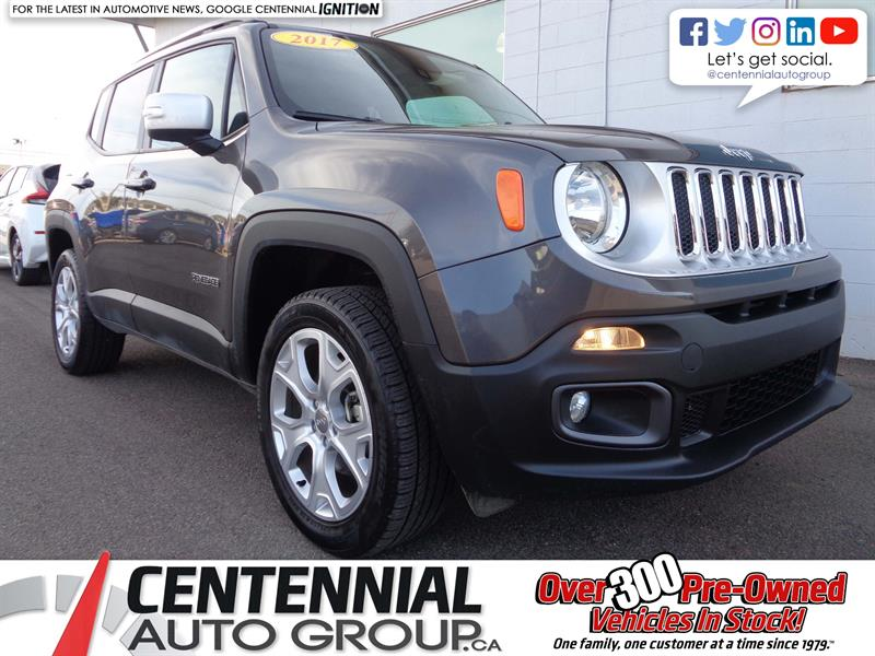 2017 Jeep Renegade Limited | 4x4 | Leather | NAV | Bluetooth | Heated #P18-052