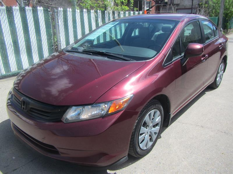 Honda Civic 2012 FINANCEMENT MAISON $ 35 PAR SEMAINE #1750