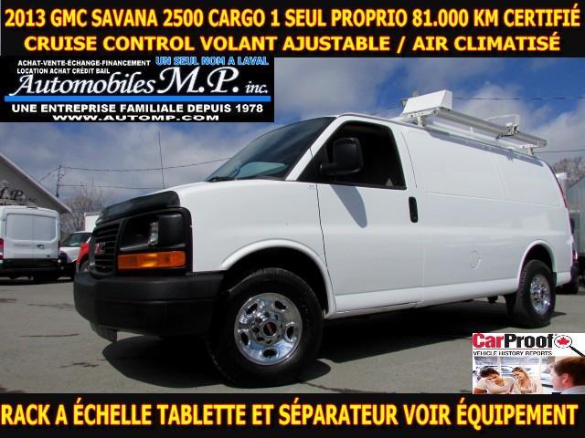 GMC Savana 3500 2013 CARGO 81.000 KM RACK A ÉCHELLE  #8512