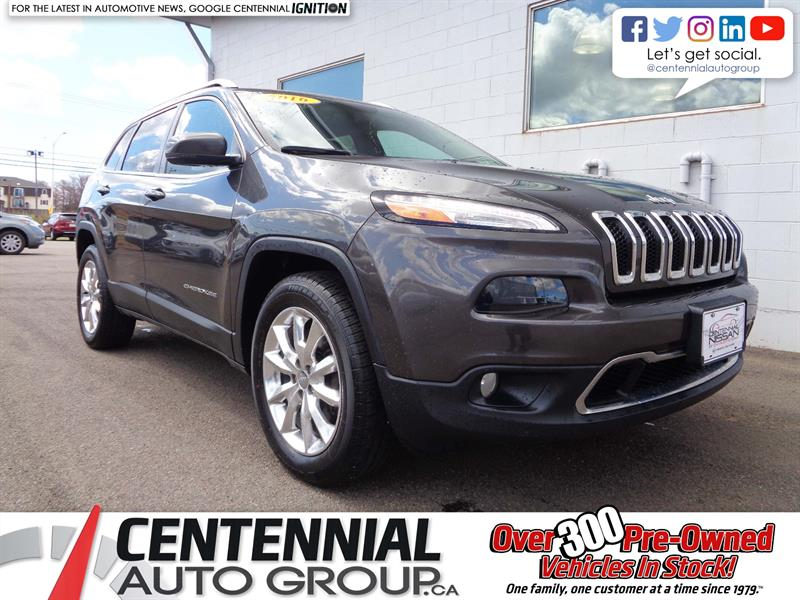 2016 Jeep Cherokee Limited | 4x4 | Leather | Nav. | Bluetooth & More! #P17-169A
