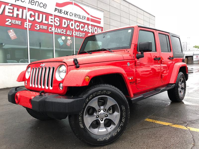 Jeep Wrangler Unlimited 2017 4WD 4dr Sahara+NAV+MAGS+A/C+GR.ELEC+WOW! #UD4677