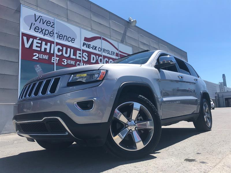 Jeep Grand Cherokee 2014 4WD 4dr Limited+CUIR+TOIT+NAV+20 POUCE+2 MUFFLER++ #UD4671
