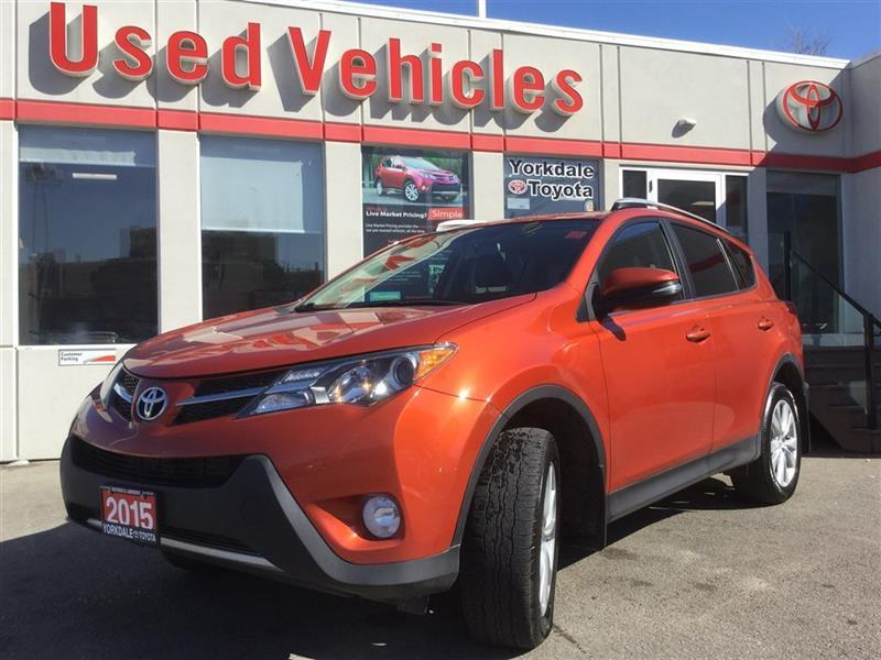 2015 Toyota RAV4 LIMITED AWD- NAV  LEATHER  ALLOYS  B.CAM  B.TOOTH  #P7176
