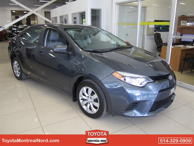 Toyota Corolla 2015 LE CVT Aut/Ac/Vitres,Portes,Miroirs Electriques  #3765 AT