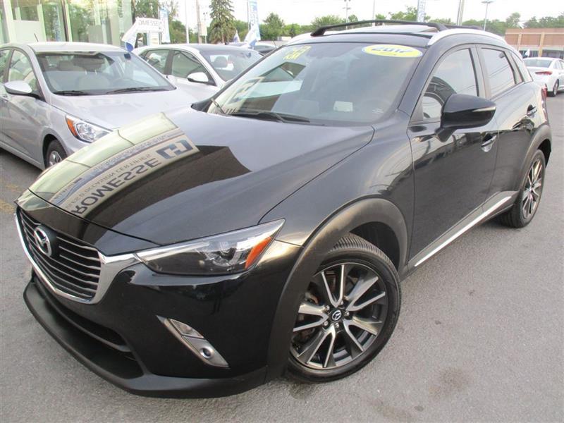 Mazda CX-3 2017 GT, DÉM DIST, CUIR, TOIT, CAM RECUL, MAGS, BT #A-2704