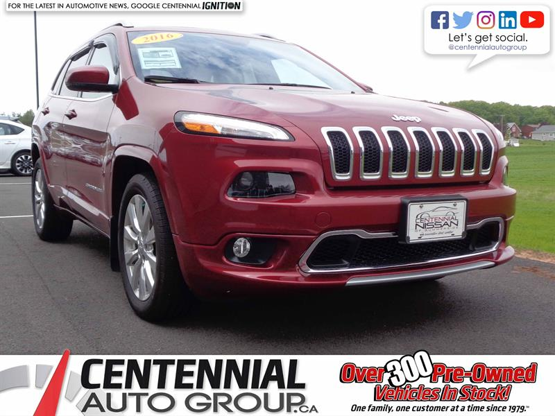 2016 Jeep Cherokee Overland | One Owner | Local Trade | i4-Cyl #S18-039A