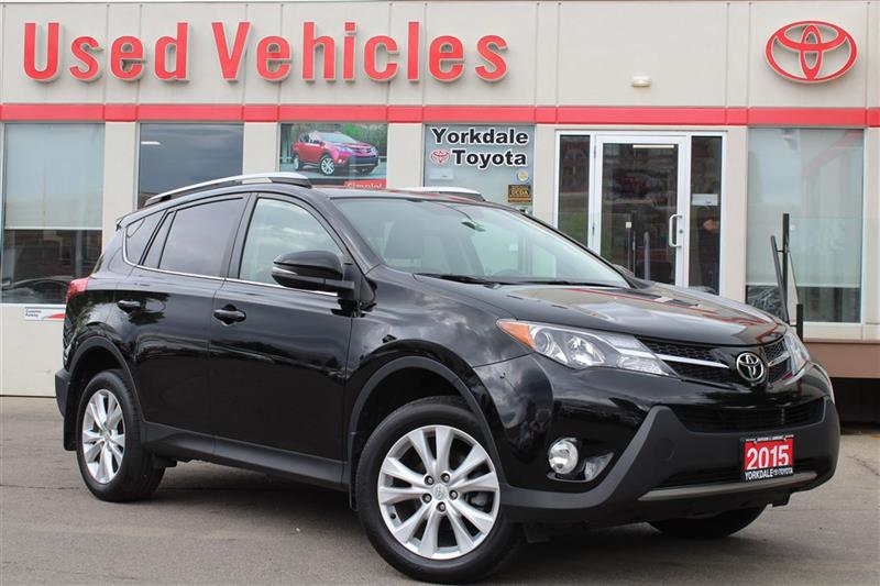 2015 Toyota RAV4 LIMITED AWD- Nav  Sunroof  Leather  Alloys  Backup #R7324