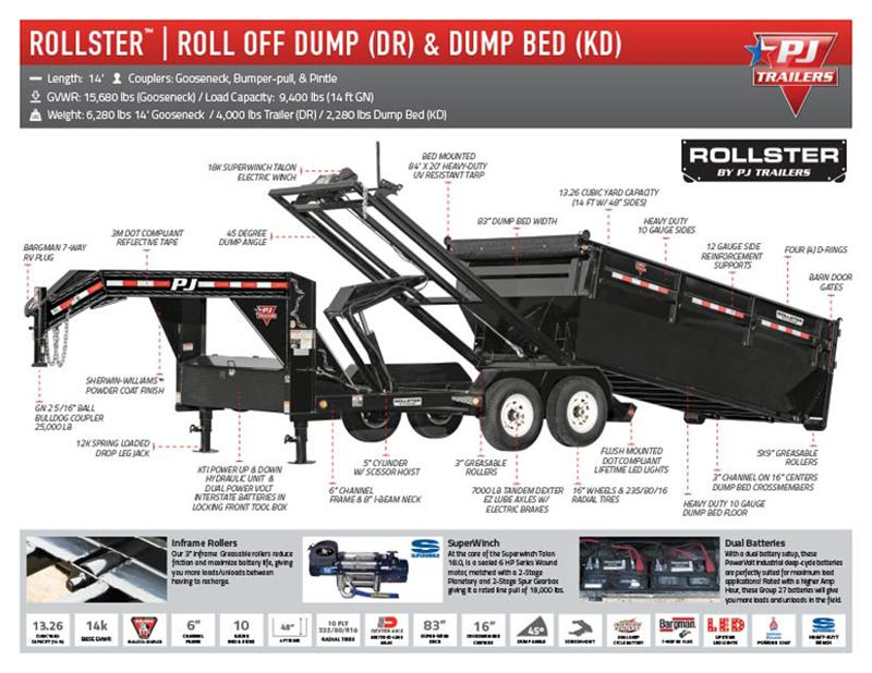 2019 Pj Trailers DR142