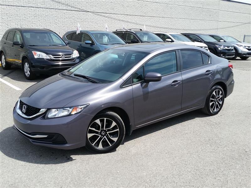 Honda Civic 2015 EX MAGS AUTO TOIT CERTIFÉ HONDA 103.92*$/2sem #U1371